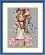 Shepherd Girl - Merejka Cross Stitch Kit