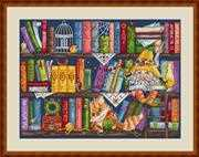 Bookshelf - Merejka Cross Stitch Kit