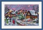 Merejka Christmas Night Cross Stitch Kit