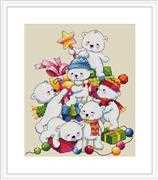Merejka Christmas Bears Cross Stitch Kit