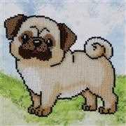 VDV Pug-Dog Embroidery Kit