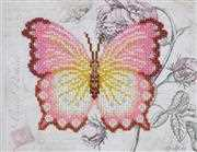VDV Butterfly Pink Embroidery Kit