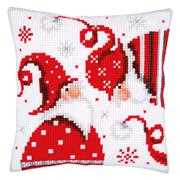 Christmas Gnome Cushion 1 - Vervaco Cross Stitch Kit