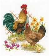 Chicken Family - Vervaco Cross Stitch Kit