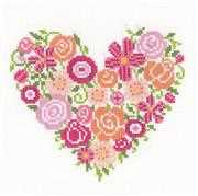 Vervaco Floral Heart Wedding Sampler Cross Stitch Kit