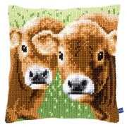Two Calves Cushion - Vervaco Cross Stitch Kit