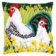 Chickens Cushion - Vervaco Cross Stitch Kit