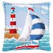 Lighthouse Cushion - Vervaco Cross Stitch Kit