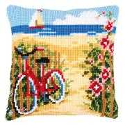 At the Beach Cushion - Vervaco Cross Stitch Kit