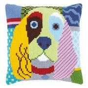 Modern Dog Cushion - Vervaco Cross Stitch Kit