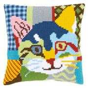 Modern Cat Cushion - Vervaco Cross Stitch Kit