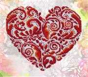 VDV Heart Shaped Lace Embroidery Kit