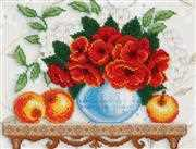 VDV Shelf with Poppies Embroidery Kit