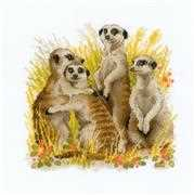 Meerkats - RIOLIS Cross Stitch Kit