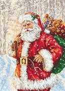 Luca-S Santa in the Snow - Petit Point Kit Tapestry