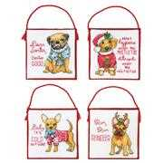 Dimensions Christmas Pups Ornaments Cross Stitch Kit