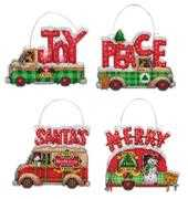 Dimensions Holiday Truck Ornaments Cross Stitch Kit