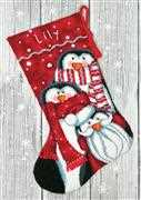 Dimensions Holiday Penguins Stocking Tapestry Kit