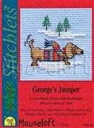 George's Jumper - Mouseloft Cross Stitch Card Design