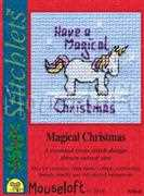 Magical Christmas - Mouseloft Cross Stitch Card Design
