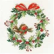 Bothy Threads Robin Wreath Christmas Cross Stitch Kit