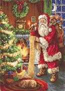 Luca-S Santa's List Christmas Cross Stitch Kit