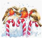 Luca-S Christmas Birds Cross Stitch Kit