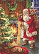 Luca-S Santa's List Petit Point Kit Tapestry
