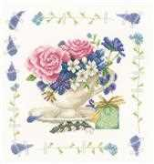 Lanarte Bouquet Of Roses Cross Stitch Kit