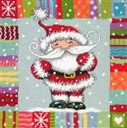 Dimensions Patterned Santa Tapestry Kit
