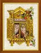 RIOLIS Window with Sparrows Cross Stitch Kit