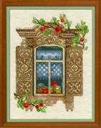 RIOLIS Window with Apples Cross Stitch Kit