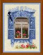 RIOLIS Window with Magpie Cross Stitch Kit