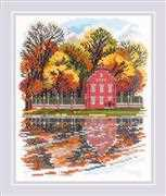 RIOLIS Kuskovo Dutch House Cross Stitch Kit