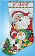 Trim the Tree Stocking - Design Works Crafts Cross Stitch Kit
