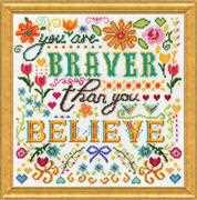 Braver - Design Works Crafts Cross Stitch Kit