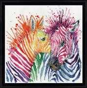 Colourful Zebras - Design Works Crafts Cross Stitch Kit