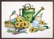 Janlynn Watering Can Cross Stitch Kit