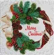 VDV Merry Christmas Embroidery Kit