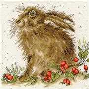 Hippy Hare - Bothy Threads Cross Stitch Kit