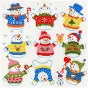 Slightly Dotty Snowmen - Bothy Threads Cross Stitch Kit