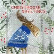 Bothy Threads Xmas Moose Christmas Card Making Christmas Cross Stitch Kit
