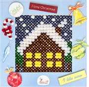 Luca-S Winter House Christmas Cross Stitch Kit