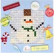 Luca-S Snowman Christmas Cross Stitch Kit