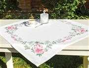 Luca-S Peony Table Topper Cross Stitch Kit