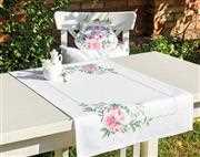 Luca-S Peony Table Runner Cross Stitch Kit