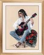 RIOLIS Guitarist Cross Stitch Kit