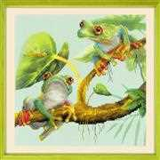 RIOLIS Tree Frogs Cross Stitch Kit