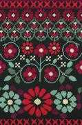 Red Geo Flowers (Half Cross Stitch) - DMC Cross Stitch Kit