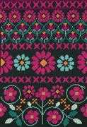 Pink Geo Flowers (Half Cross Stitch) - DMC Cross Stitch Kit